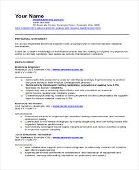 Electrical Engineering Resume Samples 47 Engineering Resume Samples Pdf Doc Free Premium Templates