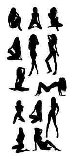 セクシーな女性のシルエットの無料イラストイラストレーター素材ai