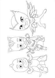 Kids N Funcom Coloring Page Pj Masks Team Pjmasks