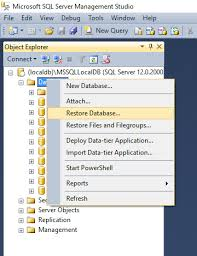 install sql server sample databases ssms restore database