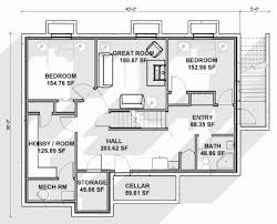 2 bedroom ranch house plans with basement inspirational apartment floor module small 50 luxury image home