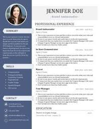 A resume is a Brand Ambassadors most valuable asset. Pick up one of our  Brand