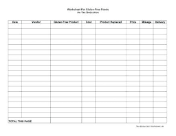 Tax Deduction Spreadsheet Excel Tax Deduction Spreadsheet Template Excel