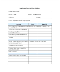 Sample Orientation Checklist For New Employee New Employee Orientation Checklist Training Template Excel Sample