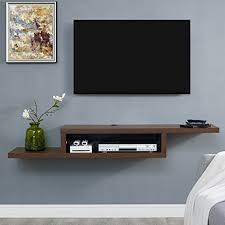 "Martin Furniture IMAS360C Asymmetrical Floating Wall Mounted TV Console,  60"", Columbian Walnut"