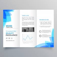 make tri fold brochure trifold brochure template design with abstract blue shapes v on make