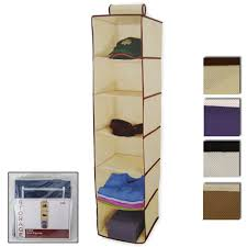 alltopbargains 6 shelf hanging wardrobe sweater storage organizer cloth bag blanket box closet com