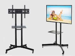 tv stand with wheels height adjule 32 65