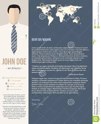 Modern Cover Letter Templates Modern Cover Letter Template With Business Man Stock Vector