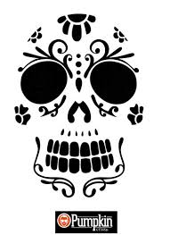 pumpkin carving patterns free sugar skull 4 free pumpkin patterns pumpkin carving sugar skull
