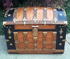 how to re an old trunk restoring old trunk vintage black leather suitcase luggage repairing old