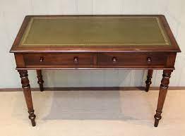 mahogany leather top writing desk