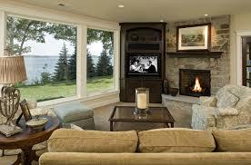 corner tv and fireplace