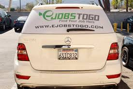 Vehicle Window Graphics Perforated See Thru Vinyl In Simi Valley Ca