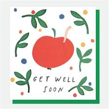 Get Well Card Apple Cut Out Get Well Card