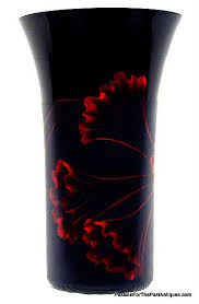 american vintage black amethyst glass vase sold passion for the past antiques and collectibles toronto antiques vintage furniture lighting