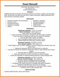 Sample Resume Government Jobs Resume For Warehouse Job Sop Proposal 100