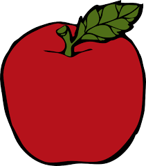 red apple clipart. simple red apple clipart