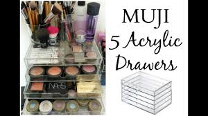 review muji acrylic 5 drawer