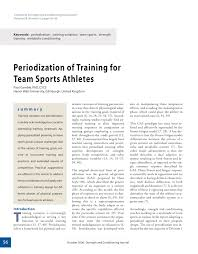 pdf periodization of for team sports athletes