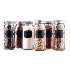 Decorative Spice Jars Spice Jar Set with Erasable Chalkboard Labels Chalkboard labels 74