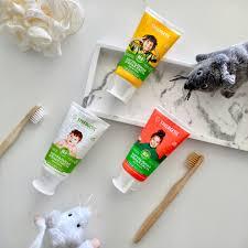 <b>Детская зубная паста</b> SYNERGETIC клубничка и банан, от 3 до 6 ...