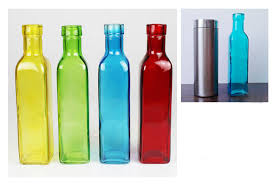 Decorative Colored Glass Bottles European 100 Color Glass Bottle Flower Vase Fashion Small Glass 8