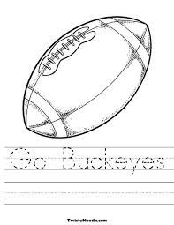 Small Picture Ohio State Buckeyes coloring page Ohio State Buckeyes