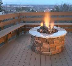 how to build an outdoor fireplace with bricks diy propane fire pit brick concrete patio design ideas patio deck