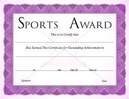 Purple Sports Certificate Templates Template Free Download
