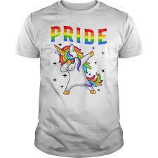 Lgbt Pride Month 2019 T Shirt Dabbing Unicorn Gay Lesbian