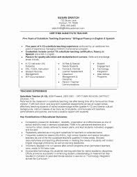 Job Description For Substitute Teacher For Resume Teacher Resume Experience Resume Template 29