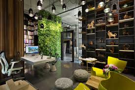 eco friendly office. Aesthetic-office-interior-decorating-ideas-with-wall-garden- Eco Friendly Office