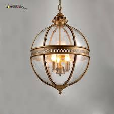 glass globe pendant light shade vintage loft iron round ball lamp hanging kitchen silver explosion art glass globe pendant light shade