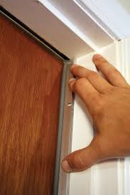 commercial door weather stripping. position the strip against closed door. commercial door weather stripping