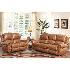 Abbyson Skyler Cognac Piece Leather Reclining Set Piece Tan - Swivel recliner chairs for living room 2