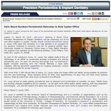 palm beach gardens periodontist relocates to new jupiter office dr lauer moves periodontal practice to jupiter