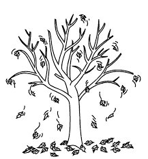 Small Picture Fall Tree With Leaves Coloring Page Coloring Pages