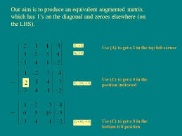 6 example 2 solve for x y and z the first step is to construct the augmented matrix x coefficients constant terms z coefficients y coefficients