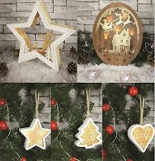 wooden led light up christmas tree