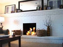painting a fireplace whitePainting Brick Fireplace White Ideas  Home Fireplaces Firepits