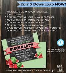 Free Block Party Flyer Template Unique Block Party Invitation Summer ...