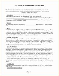 Rent A Room Agreement Template Fresh Roommate Agreement Sample ...