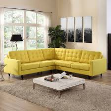 Living Room 3 Piece Sets Modway Empress 3 Piece Fabric Sectional Sofa Set Multiple Colors