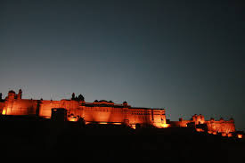 Amber Fort Light Show Tickets File Amber Fort In The Evening Just Before The Start Of The