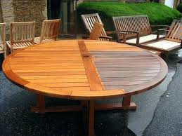large outdoor table round wood outdoor table large round teak wood table outdoor wood side table