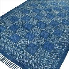 blue accent rug blue indigo cotton block print accent area rug weave 3 x 5 4 blue accent rug