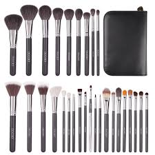 limited time deal docolor 29pcs professional makeup brushes set goat hair foundation eyeshadow kits with cases amazon in beauty