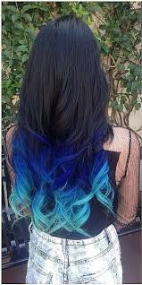 Mermaid Ombre Colorful Indian Remy Clip In Hair Extensions C017