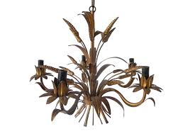 french vintage wheat tole chandelier